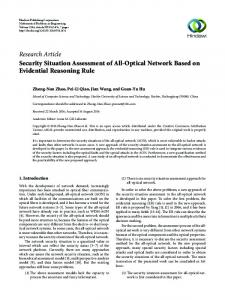 Security Situation Assessment of All-Optical Network Based on ...