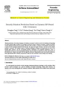 Security Situation Prediction Based on Dynamic BP Neural with ...