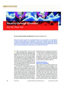 Security through Diversity - IEEE Xplore