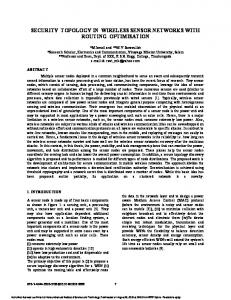 security topology in wireless sensor networks with ... - Semantic Scholar