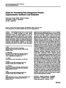 Sediment Load Reduction - Springer Link