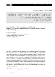 sediment quantity management in polish catchment-river-sea systems