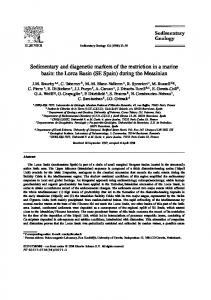 Sedimentary and diagenetic markers of the restriction ...