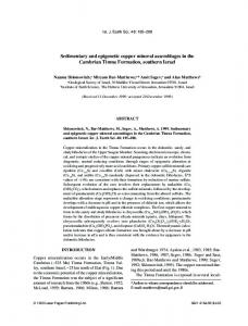 Sedimentary and epigenetic copper mineral assemblages in the ...