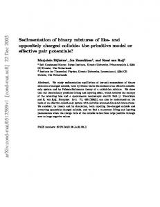 Sedimentation of binary mixtures of like-and oppositely charged ...