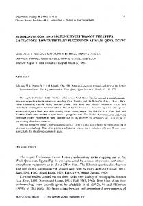 SEDIMENTOLOGIC AND TECTONIC EVOLUTION OF THE UPPER ...