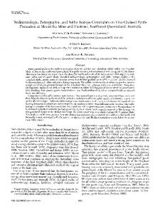 Sedimentologic, Petrographic, and Sulfur Isotope ... - CiteSeerX