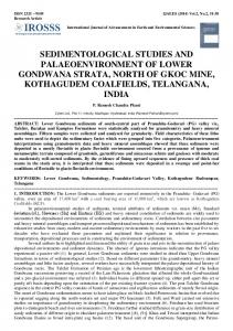 sedimentological studies and palaeoenvironment of lower ... - IROSSS