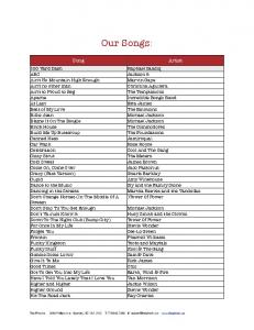 See our song list