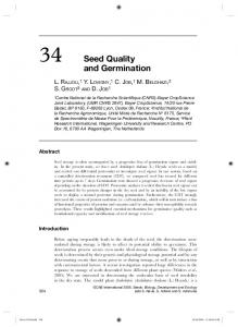 Seed quality and germination