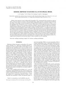 seedling response to elevated co2 in five epigeal ... - PubAg - USDA