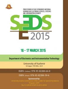 SEEDS-2015 @University of Kashmir, Srinagar