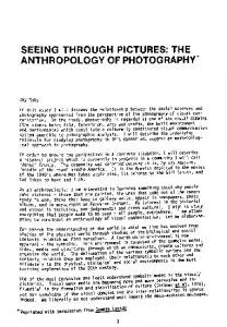 seeing through pictures: the anthropology of photography.