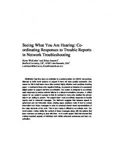Seeing What You Are Hearing: Co- ordinating ... - Semantic Scholar