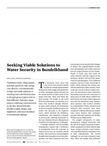 Seeking Viable Solutions to Water Security in ... - India Water Portal