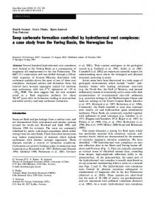 Seep carbonate formation controlled by hydrothermal vent complexes ...