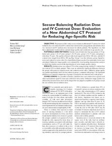 Seesaw Balancing Radiation Dose and IV Contrast Dose - AJR