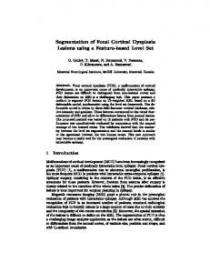 Segmentation of Focal Cortical Dysplasia Lesions using a Feature ...