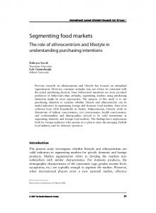 Segmenting food markets - SSRN