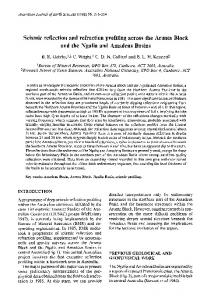 Seismic reflection and refraction profiling across the ...