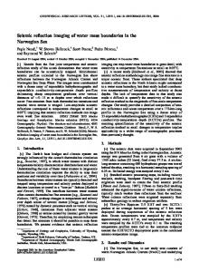 Seismic reflection imaging of water mass ... - W. Steven Holbrook