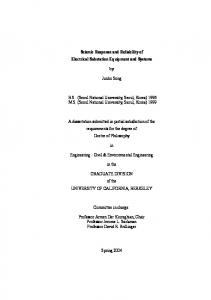 Seismic Response and Reliability of Electrical ...