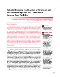 Seismic Response Modification of Structural and ... - MCEER