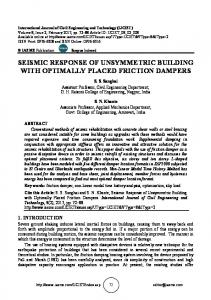seismic response of unsymmetric building with