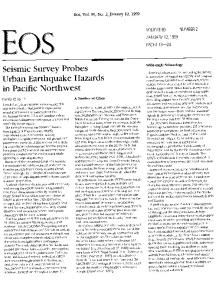 Seismic survey probes urban earthquake ... - Wiley Online Library