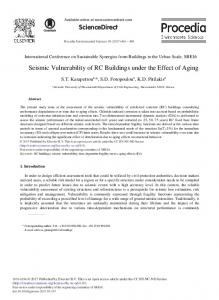 Seismic Vulnerability of RC Buildings under the Effect ... - ScienceDirect