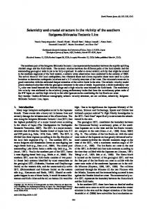 Seismicity and crustal structure in the vicinity of the southern ... - terrapub