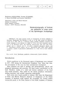 Seismostratigraphy of bottom sea sediments in some areas of the
