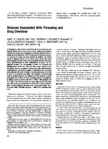 Seizures Associated With Poisoning and Drug Overdose