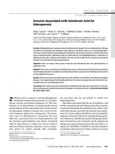 Seizures Associated with Zoledronic Acid for Osteoporosis