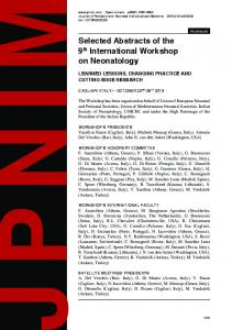 Selected Abstracts of the 9th International Workshop on Neonatology