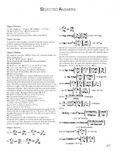 Selected Answers - An Introduction to Chemistry