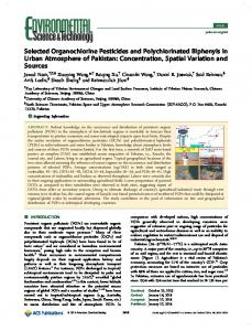Selected Organochlorine Pesticides and Polychlorinated Biphenyls in ...
