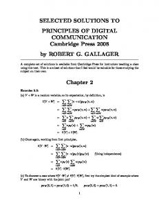 selected solutions to principles of digital communication
