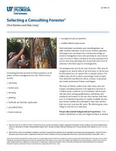 Selecting a Consulting Forester1