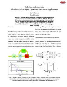 Selecting and Applying Aluminum Electrolytic Capacitors for Inverter ...