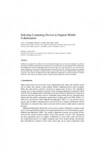 Selecting Computing Devices to Support Mobile Collaboration
