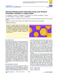 Selecting Phthalocyanine Polymorphs Using Local ... - ACS Publications