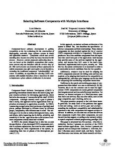 Selecting software components with multiple ... - Semantic Scholar