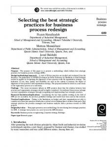 Selecting the best strategic practices for business ... - Semantic Scholar