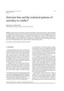 Selection bias and the statistical patterns of ... - Semantic Scholar