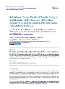 Selection of Active Modified Zeolite Catalyst and Kinetics of the ...