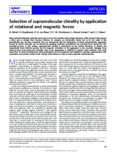 Selection of supramolecular chirality by application of