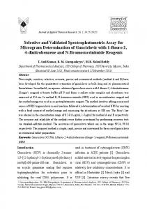 Selective and Validated Spectrophotometric Assay for ...