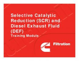 Selective Catalytic Reduction (SCR) and Diesel Exhaust ...