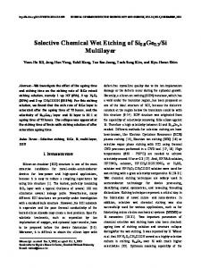 Selective Chemical Wet Etching of Si0.8Ge0.2/Si Multilayer - JSTS